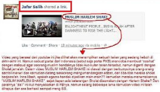 Jafar shalih meng-shared MUSLIM HARLEM SHAKE