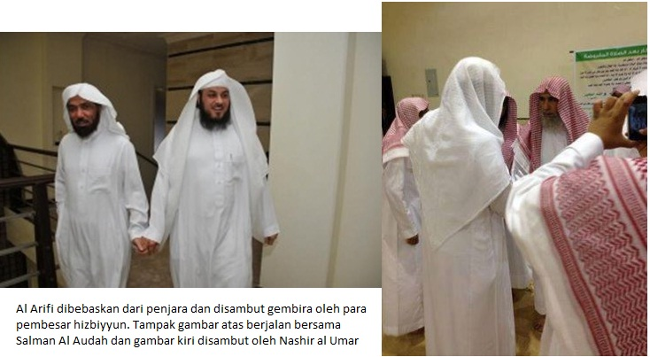 al arifi dibebaskan dan disambut para gembong hizby
