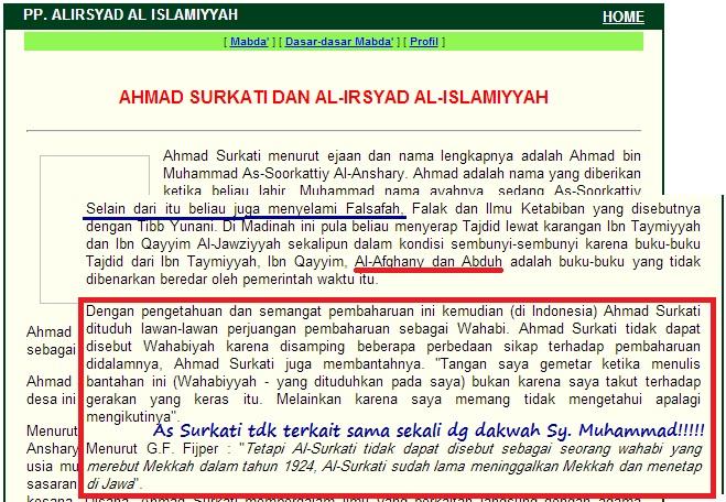 assurkati tak terkait dakwah syaikh muhammad bin abdul wahab