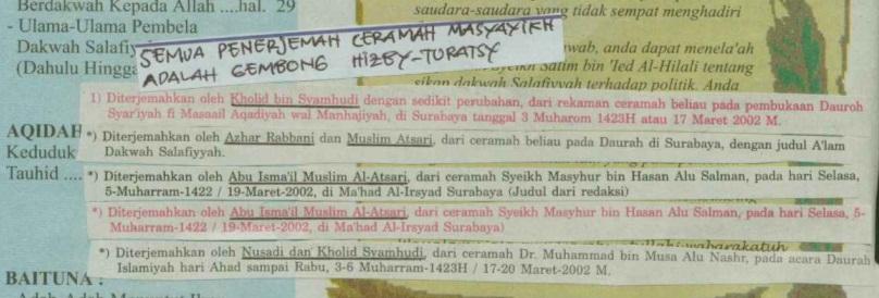 semua penerjemah gembong hizby turotsi