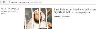 situs hizbi beritakan al arifi dijelboskan ke penjara