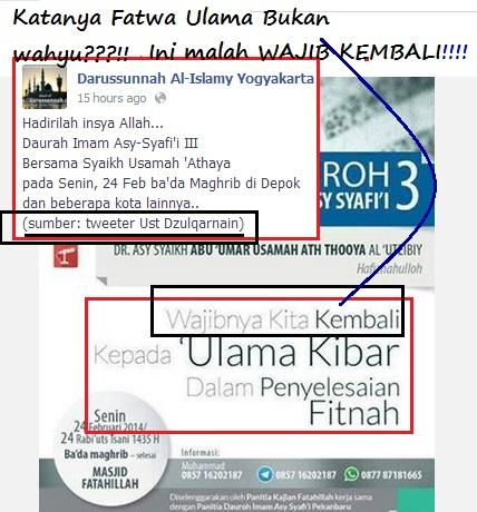 kata Munajat Darul Fitnah -Fatwa Ulama bukan wahyu-