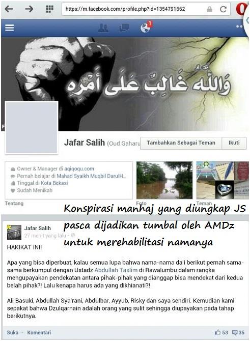 Screenshot Hakekat Dakwah MLM Mutalawwin-La'aab-Makir wajahnya yang disembunyikan di belakang umat konspirasi dengan Halabiyun