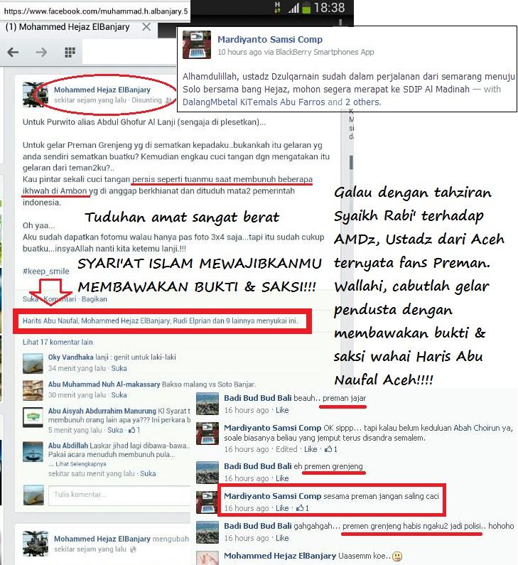 Screenshot Haris Aceh ternyata penikmat qila wa qala