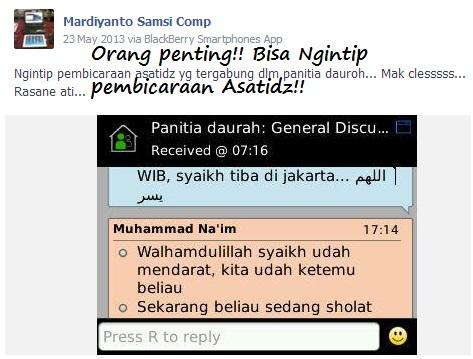 Screenshot Mardiyanto orang penting bisa ngintip pembicaraan asatidz