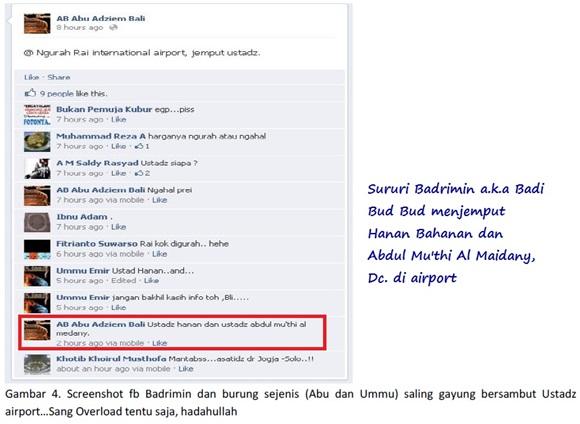 Screenshot Sululy Badrimin ak.a Abu Adziem a.k.a Badi Bud Bud Bali jemput Hanan Bahanan dan Abdul Mu'thi Al Maidany
