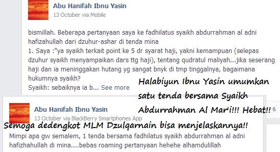 Halabiyun Ibnu Yasin benar-benar leluasa berhehehe dekat dengan ulama Ahlussunnah