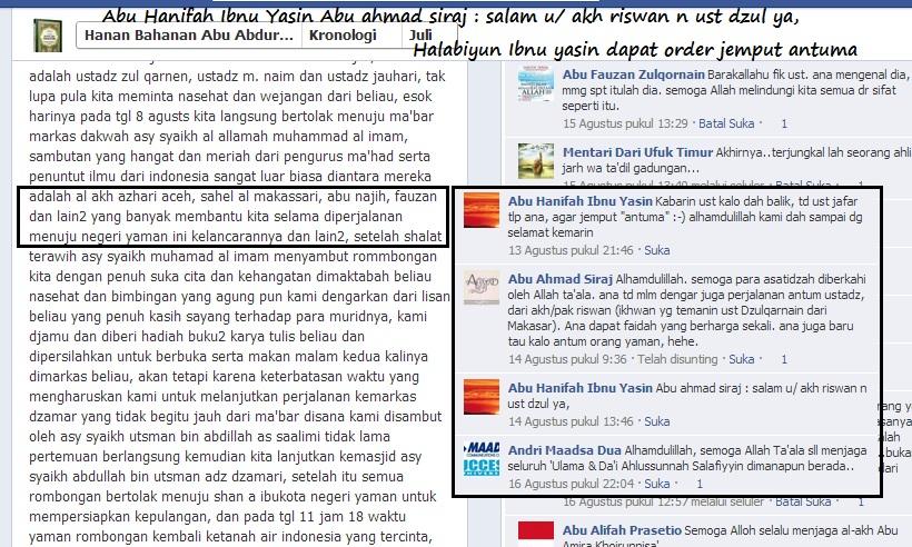 Halabiyun Ibnu Yasin dapat order jemput antuma dan salam untuk Dzulqarnain