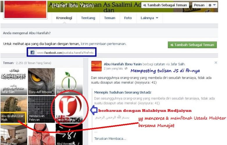 Ibnu Yasin posting tulisan Jafar Salih yang membantah ustadz Muhammad