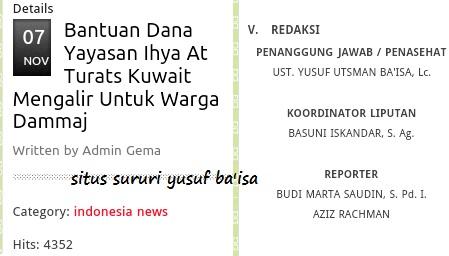 Memamerkan aksi sosial Ihya'ut Turats