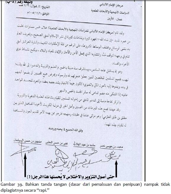 tanda tangan hasil pemalsuan