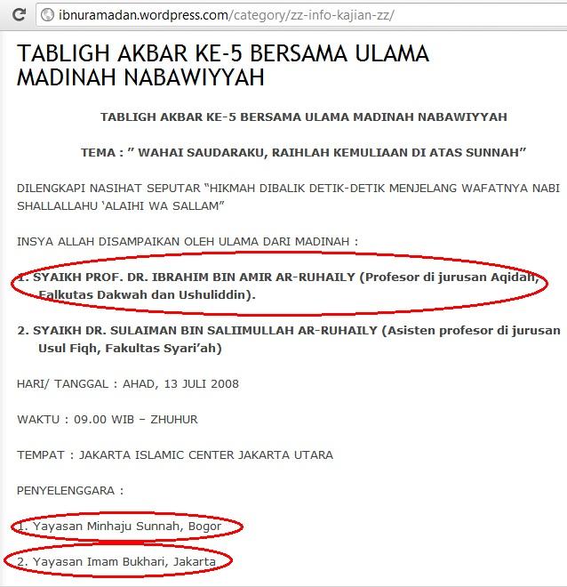 Yayasan Imam Bukhari Jakarta dan Minhajus Sunnah Bogor
