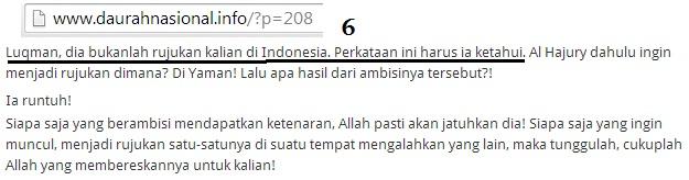 benar ya Syaikh.. Luqman bukanlah rujukan kami di Indonesia