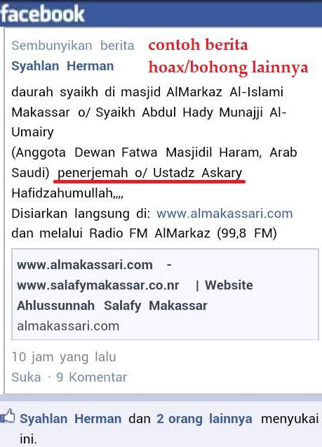 berita bohong ust askary sebagai penerjemah