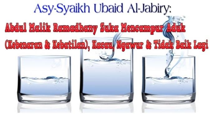 Abdul Malik Ramadhany suka mencampur aduk, kacau, ngawur, dan tidak baik lagi