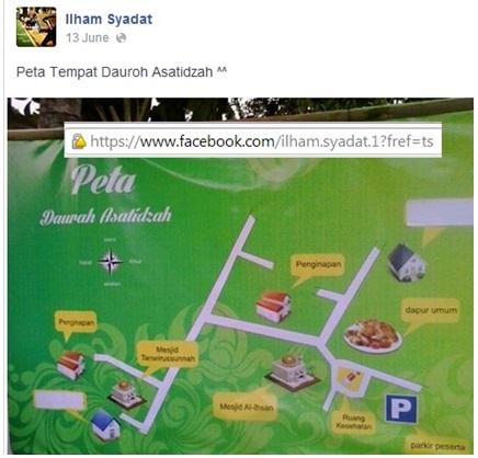Peta lokasi daurah asatidzah bersama Syaikh Abdul Hadi