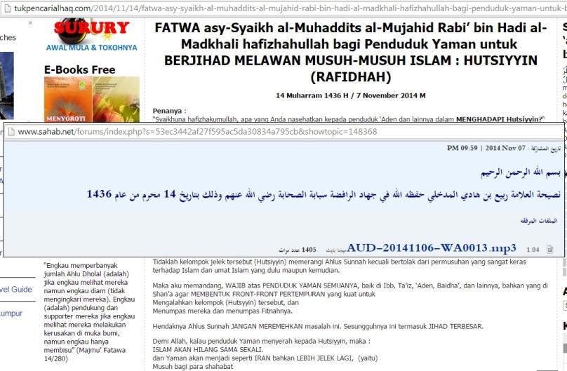Seruan jihad melawan pemberontak Rafidhah Hutsiyun Khawarij Najis
