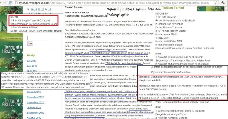 Setali Tiga Uang. Al Halaby dan Halabiyun memuji-muji Risalah Amman dan Website-website Syi'ah pun senada seirama mengelu-elukannya.