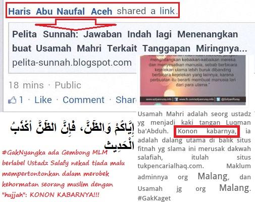 Wallahi dikau pelitakadzdzab wahai Haris Aceh