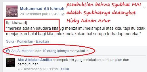 Status Muhammad Ali Ishmah, Mereka (Khawarij) adalah saudara kita…