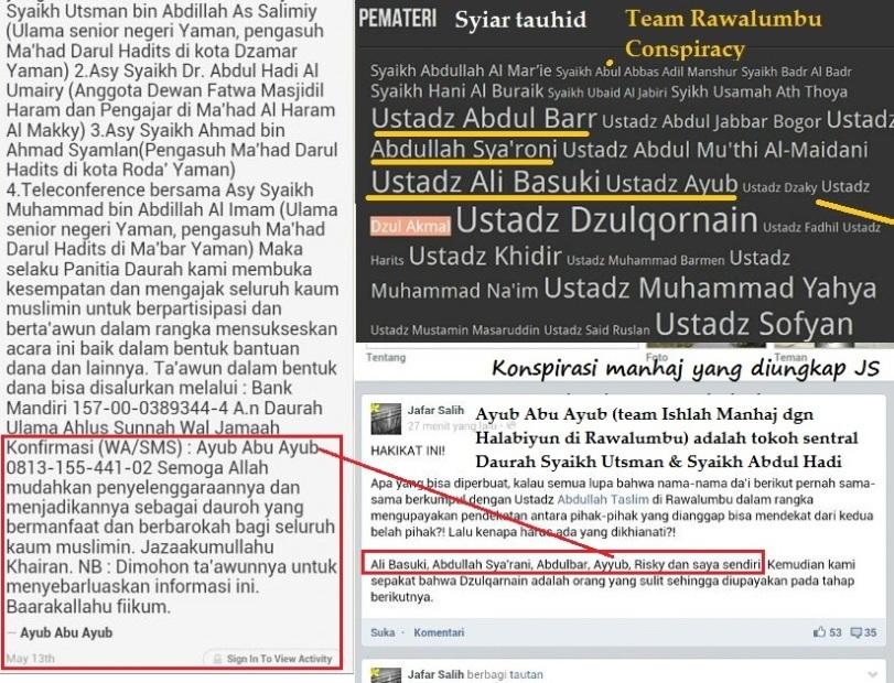 Syaikh Abdul Hadi-Utsman As Salimi dibawah dekapan team Rawalumbu Conspiracy