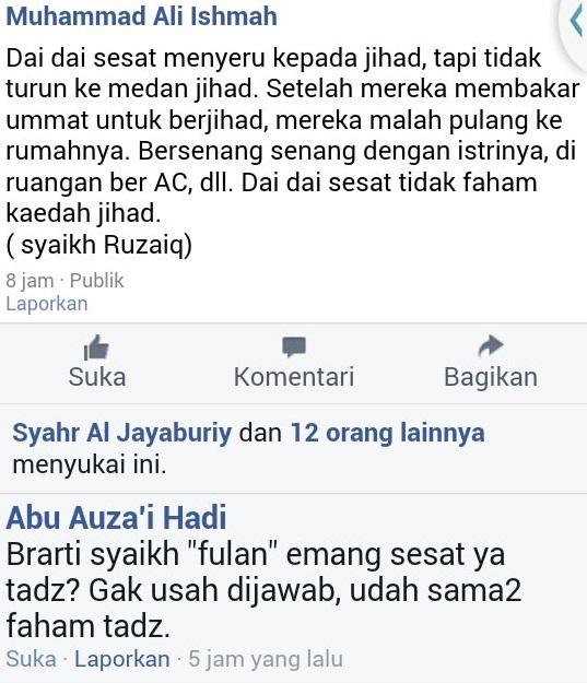 Dai sesat tidak turun ke medan jihad setelah membakar umat untuk berjihad