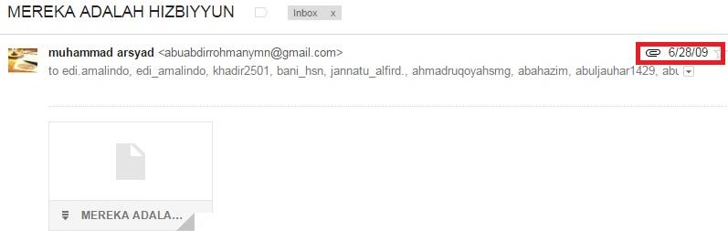Muhammad Arsyad mengirimkan pernyataan Al Hajury, vonis Hizby kepada Syaikh Abdurrahman dan yang bersamanya