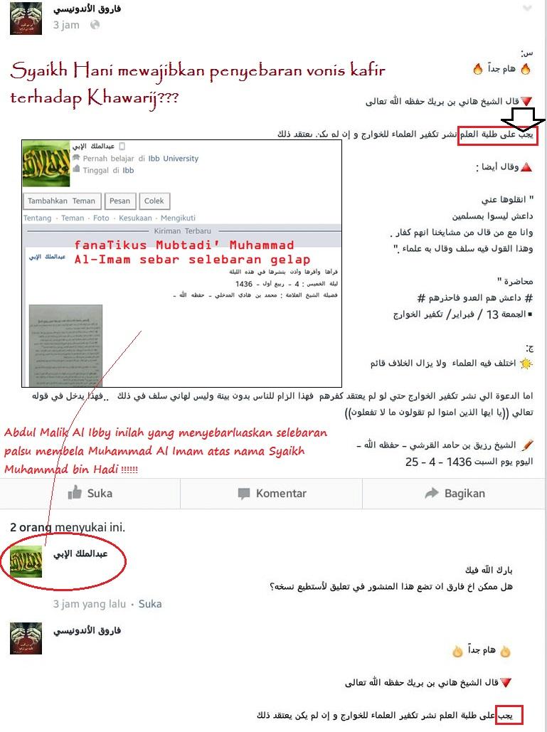 Penyebar selebaran palsu pengekor fanatik Al Imam muncul