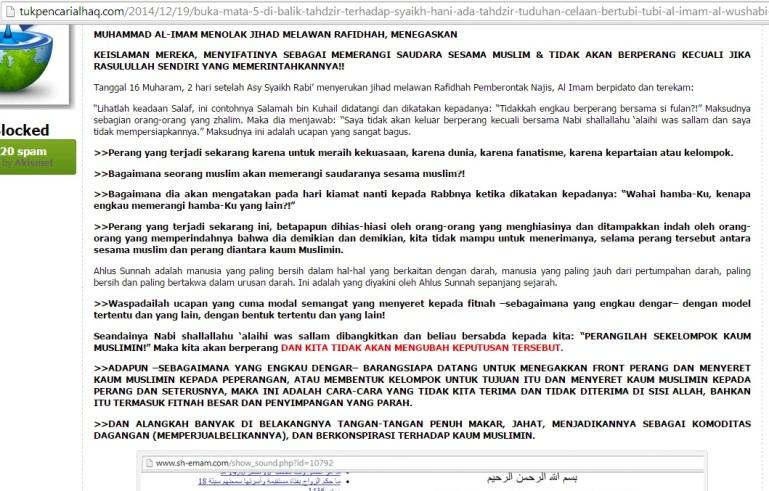Seruan Anti-Jihad melawan Pemberontak Najis Rafidhah Hutsiyun oleh Al Imam