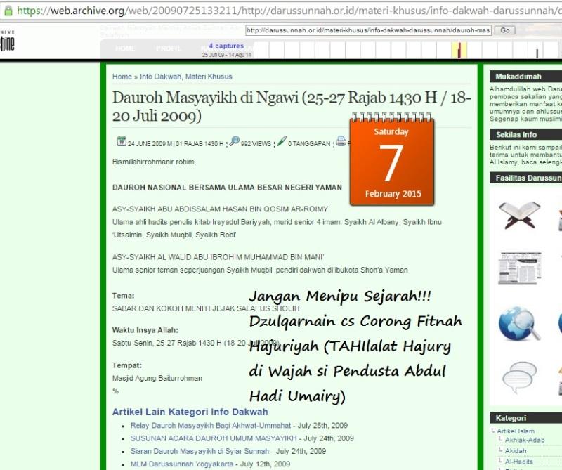 Situs Munajat Darussunnah menjadi corong fitnah Hajuriyah