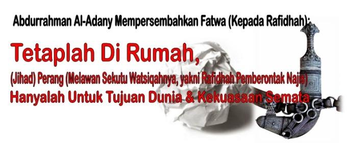 Abdurrahman persembahkan fatwa kepada rafidhah