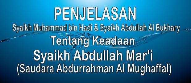 tentang Abdullah Mar'i