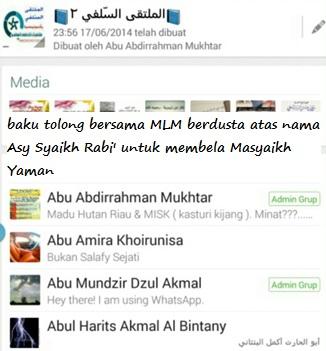 AAM AAK AHAB Trio Multaqa Assalafy penyokong kedustaan atas nama Asy Syaikh Rabi
