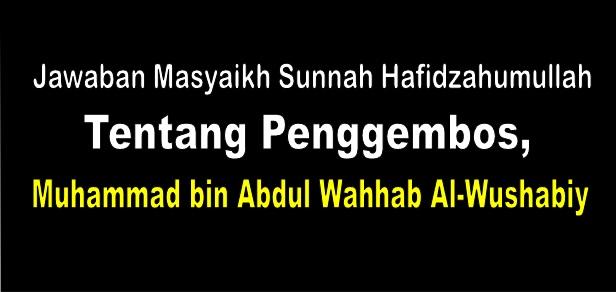 jawaban masyayikh tentang al wushabiy