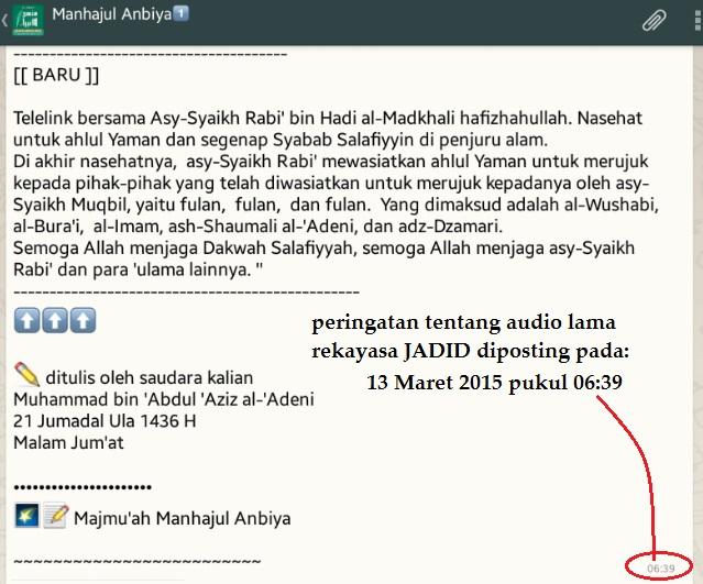 Terbaru makar atas nama Syaikh Rabi