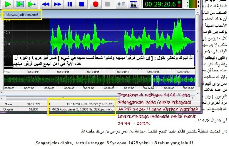 Transkripnya di wahyain pada file audio rekayasa makar terJADID