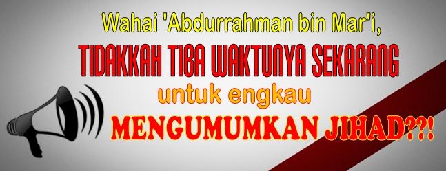 wahai abdurrahman bin mar i